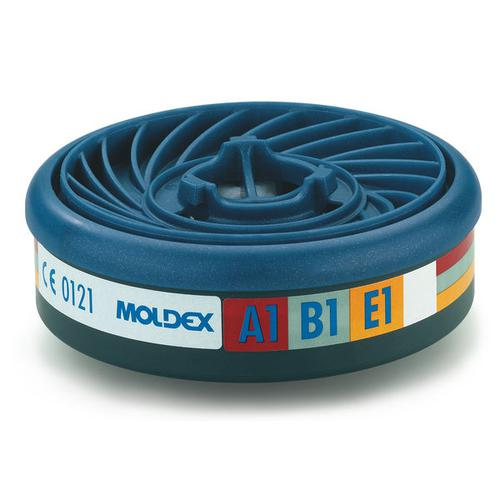 Moldex ABE1 7000/9000 Particulate Filter EasyLock System Blue Ref M9300 [Pack 5] *Up to 3 Day Leadtime*