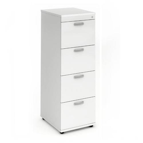 Trexus 4 Drawer Filing Cabinet 500x600x1445mm White Ref I000194