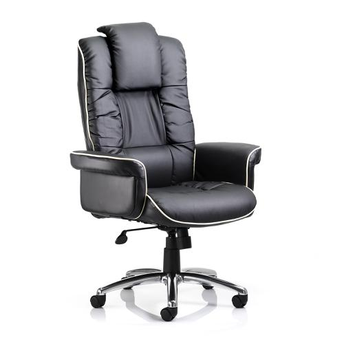 Trexus Chelsea Executive Chair With Arms Bonded Leather Black Ref EX000001