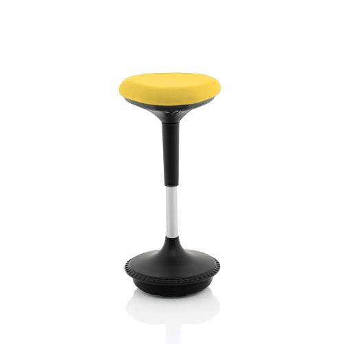 Trexus Sitall Deluxe Visitor Stool Fabric Seat Mustard Ref BR000214