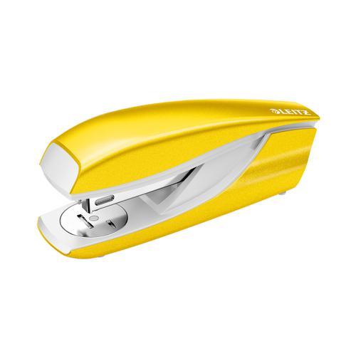 Leitz NeXXt WOW Stapler Half Strip Metal 30 sheet Yellow Ref 55021016 [REDEMPTION] Apr-Jun20