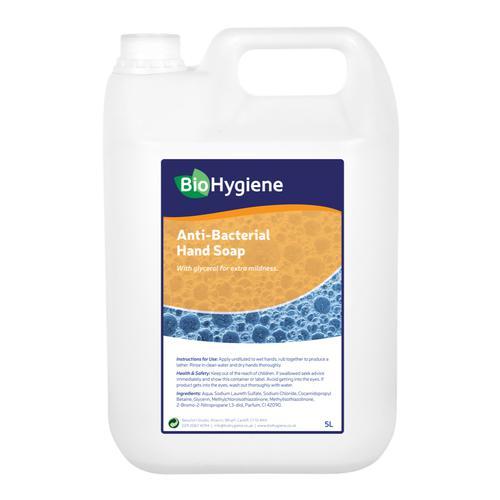 BioHygiene Antibac Hand Soap Unfragranced 5Litre Bottle Ref BH099