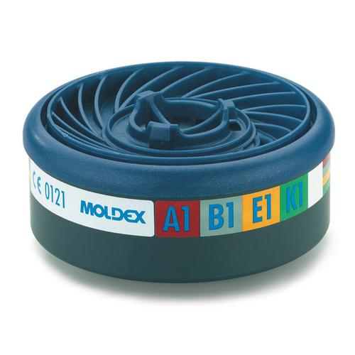 Moldex Abek1 7000/9000 Particulate Filter EasyLock System Blue Ref M9400 [Pack 5] *Up to 3 Day Leadtime*
