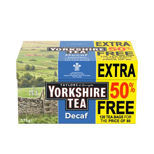 Yorkshire Tea Decaffeinated Ref 0403388 [Pack 120]