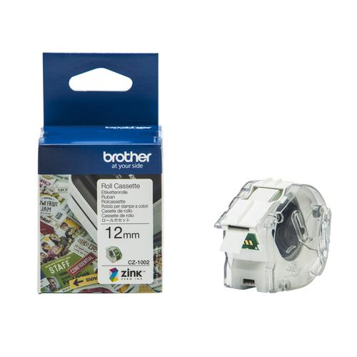 Brother Colour Label Printer 12mm Wide Roll Cassette Ref CZ1002