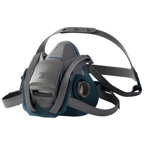 3M Reusable Half Mask Four Point Adjustment Head Harness Large Grey Ref 6503QL *Up to 3 Day Leadtime*