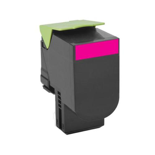 Lexmark 802M Laser Toner Cartridge Return Programme Page Life 1000pp Magenta Ref 80C20M0