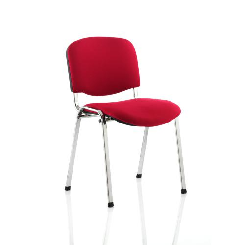 Trexus Stacking Chair Chrome Frame Red 470x420x500mm Ref BR000299