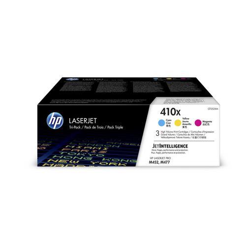 HP 410X Laser Toner Carts HY Page Life 5000pp Cyan/Magenta/Yellow Ref CF252XM [Pack 3]