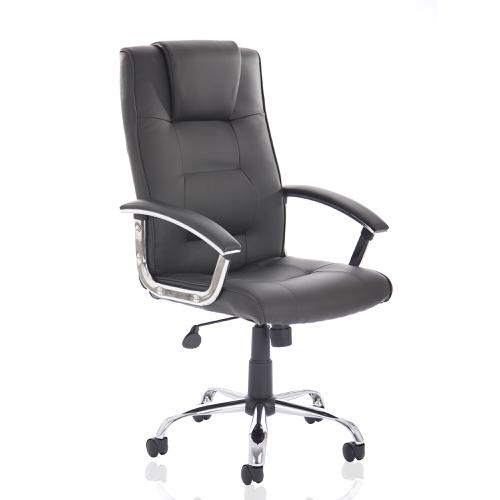 Trexus Thrift Executive Chair With Padded Arms Bonded Leather Black Ref EX000163