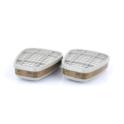 3M A1 Filter for Organic Gases and Vapours White Ref 6051 [Pair] *Up to 3 Day Leadtime*