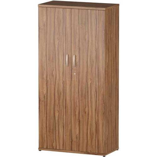 Trexus Office High Cupboard 800x400x1600mm 3 Shelves Walnut Ref S00007