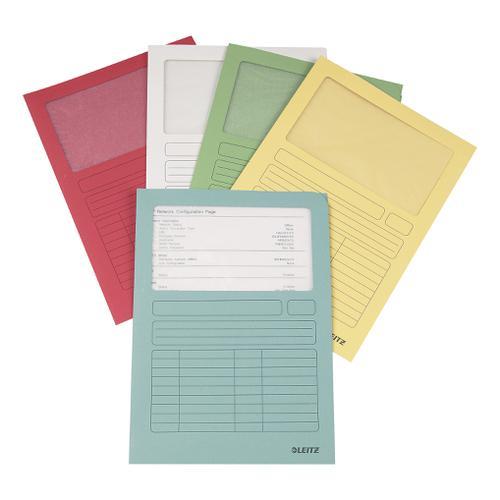 Leitz Window Folder 160gsm A4 Assorted Ref 39500099 [Pack 100]