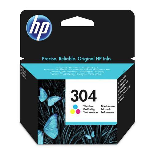 Hewlett Packard [HP] No.304 Inkjet Cartridge Page Life 100pp 2ml Tri-Colour Ref N9K05AE