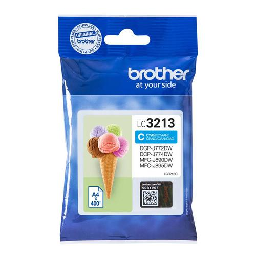 Brother Inkjet Cartridge High Yield Page Life 400pp Cyan Ref LC3213C
