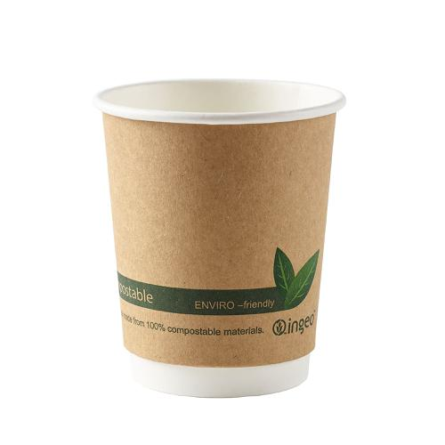 Ingeo Kraft Paper Cups 8oz Double Wall PLA Ref 44881 [Pack 25]
