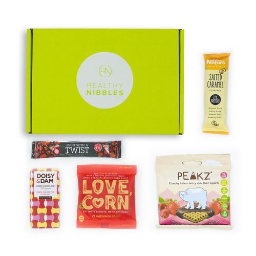 Healthy Nibbles Vegan Snack 5 Piece Mini Box Ref Vegan5 *Up to 2-3 Day Leadtime*