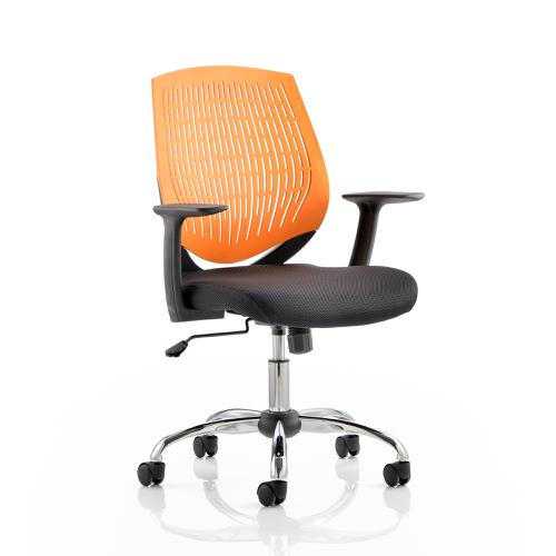 Trexus Dura Task Operator Chair With Arms Orange Ref OP000019