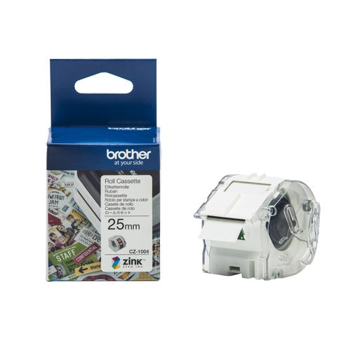 Brother Colour Label Printer 25mm Wide Roll Cassette Ref CZ1004