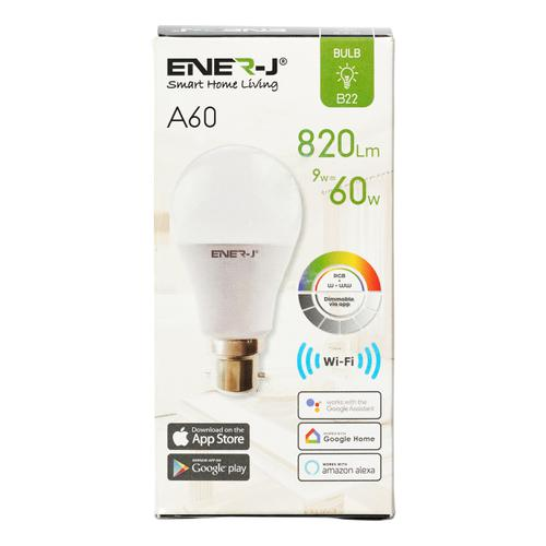 Ener-J WiFi Smart LED GLS Bulb With 8 Scene Modes And Smart Voice Control Ref SHA5262