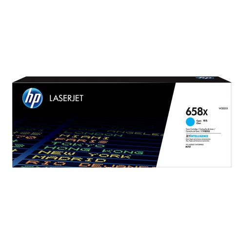 Hewlett Packard 658X Laser Toner Cartridge High Yield Page Life 28,000pp Cyan Ref W2001X