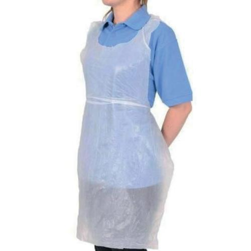 5 Star Facilities White Disposable Apron Flat Packed 660 x 1066mm Pack100
