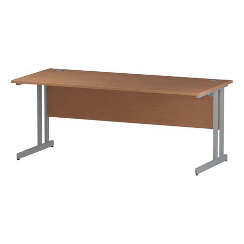 Trexus Rectangular Desk Silver Cantilever Leg 1800x800mm Beech Ref I000286