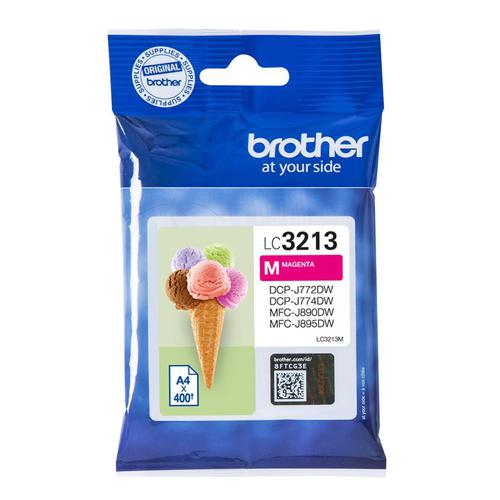 Brother Inkjet Cartridge High Yield Page Life 400pp Magenta Ref LC3213M