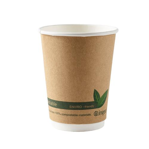 Ingeo Kraft Paper Cups 12oz Double Wall PLA Ref 44882 [Pack 25]