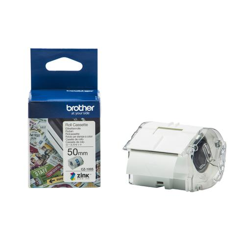 Brother Colour Label Printer 50mm Wide Roll Cassette Ref CZ1005