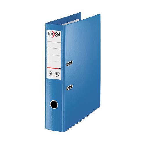 Rexel Choices LArch File PP 75mm FScap Blue Ref 2115512