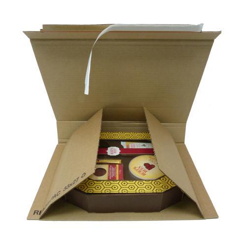 Rigid Corrugated Postal Wrapper Large 330x270x50mm Manilla Ref RBL10537 [Pack 25]