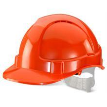 B-Brand Economy Vented Safety Helmet Orange Ref BBEVSHO *Up to 3 Day Leadtime*