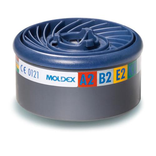 Moldex ABEK2 7000/9000 Particulate Filter EasyLock System Blue Ref M9800 [Pack 4] *Up to 3 Day Leadtime*