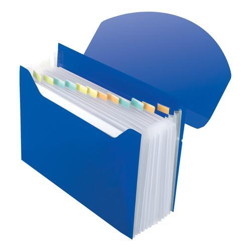 Rexel Optima Expanding Organiser File Polypropylene 13-Part A4 Blue Ref 2102484