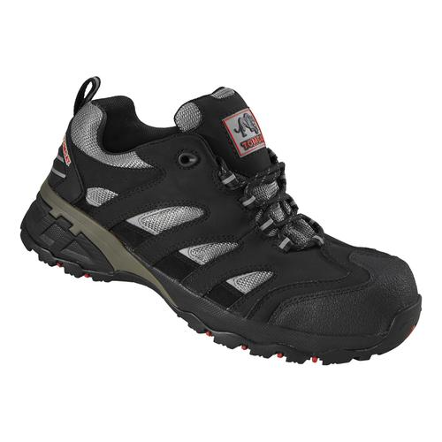 Rockfall Maine Trainer F/Glass Toecap & Flexi-Midsole Size 8 Black/Silver Ref TC130-8 *5-7 Day Leadtime*