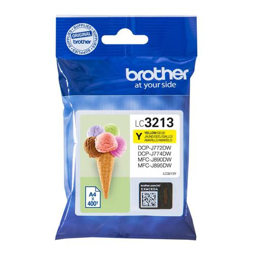 Brother Inkjet Cartridge High Yield Page Life 400pp Yellow Ref LC3213Y