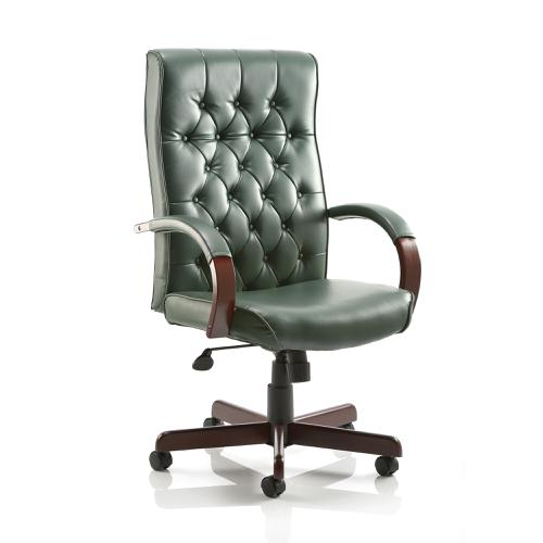 Trexus Chesterfield Executive Chair With Arms Leather Green Ref EX000006
