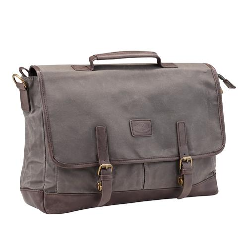 Image for Pride and Soul Vegas 15inch Laptop Briefcase Grey/Brown Ref 47303