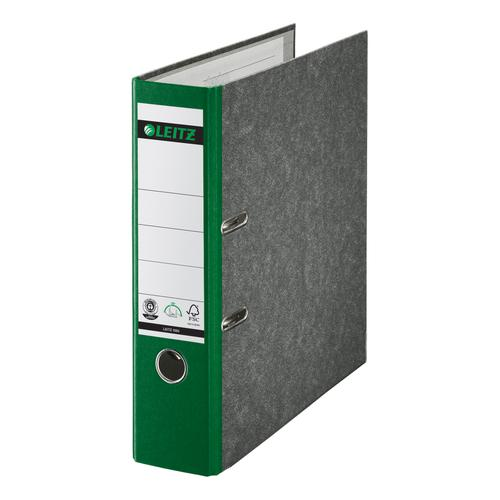 Leitz FSC Standard Lever Arch File 80mm Capacity A4 Green Ref 10801055 [Pack 10]