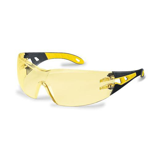 Uvex Pheos Safety Spec Yellow Ref 9192-385 [Pack 5] *Up to 3 Day Leadtime*