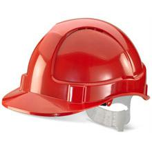 B-Brand Economy Vented Safety Helmet Red Ref BBEVSHRE *Up to 3 Day Leadtime*