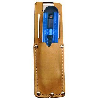 Pacific Handy Cutter Clip On Holster Leather Metal Belt Clip Brown Ref UKH-326 *Up to 3 Day Leadtime*