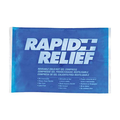 Rapid Relief Reusable Hot/Cold Gel Compress C/W Contour Gel 5in x 9in Ref RA12259 *Up to 3 Day Leadtime*