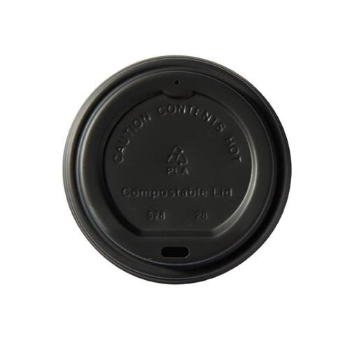 Ingeo Kraft Hot Cup 12oz PLA Plastic Lids Ref 44886 [Pack 50]