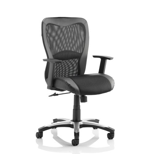 Trexus Victor II Executive Chair With Arms Mesh Leather Black Ref EX000075