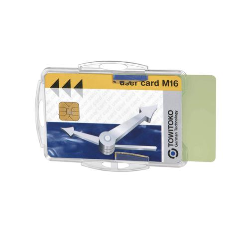 Durable Dual Card Security/ID pass Holder Clear Ref 891919 [Pack 10]