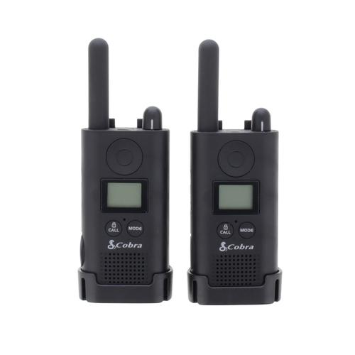 Cobra PU 500 Pro Business Two Way Radios 16 Preset Channels Range 8km Ref PU500B+SV-01 [Pair]