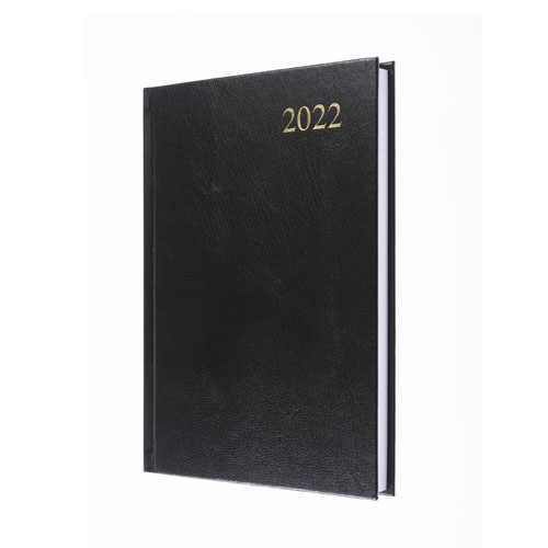 5 Star Office 2022 Diary Day to Page Casebound and Sewn Vinyl Coated Board A5 210x148mm Black