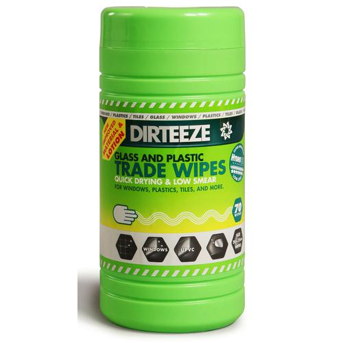 Dirteeze Glass & Plastic Trade Wipes Dispenser Tub 200x250mm Ref DZGP80 [80 Wipes] *Up to 3 Day Leadtime*